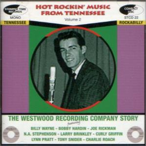 HOT ROCKIN' MUSIC FROM TENNESSEE Volume 2 - VARIOUS ARTISTS - 50's Rockabilly Comp CD, STOMPERTIME